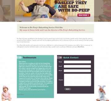 Baby Sitting Website Development