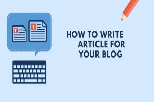 write article for a blog